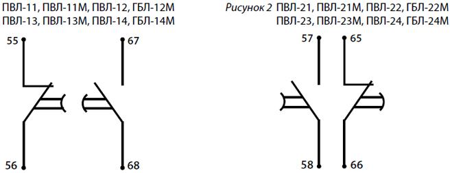 Электрическая схема пневмоприставкок ПВЛ Техэнерго