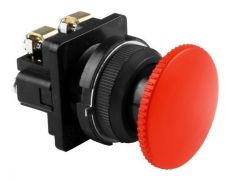 Выключатель кнопочный КЕ 021/3 красный гриб   2р