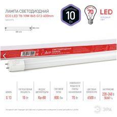 Лампа LED T8-10w-865-G13 600mm smd ECO  ЭРА